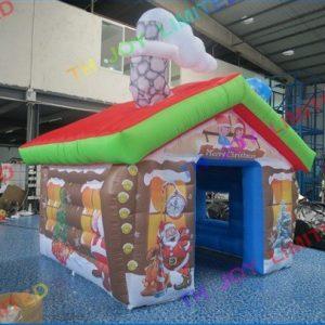 Casa di Babbo Natale Gonfiabile stampata