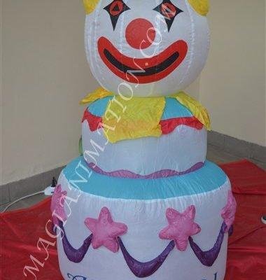 torta clown gonfiabile
