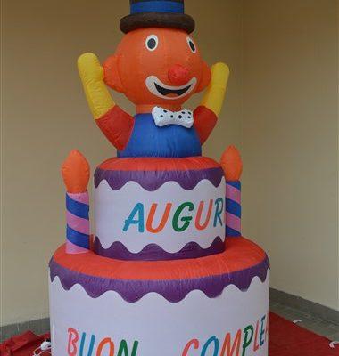 torta gonfiabile clown