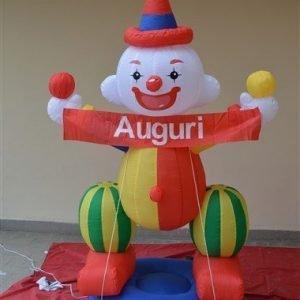 Clown gonfiabile  banner Auguri