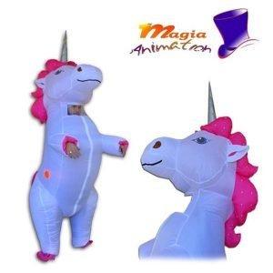 Mascotte / Costume gonfiabile unicorno